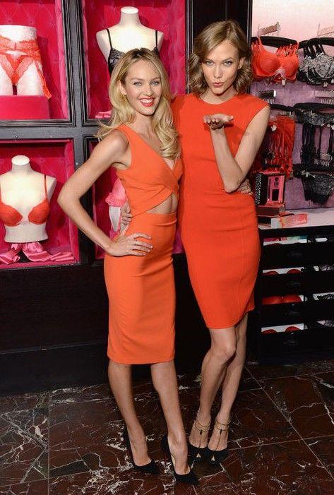 Modelos da victoria secret nos mostrar como balançar a cor da temporada para as tendências da moda primavera