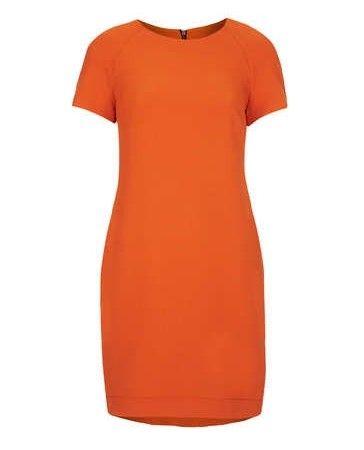 TopShop Formulário-encaixe vestido em um tom caqui de laranja