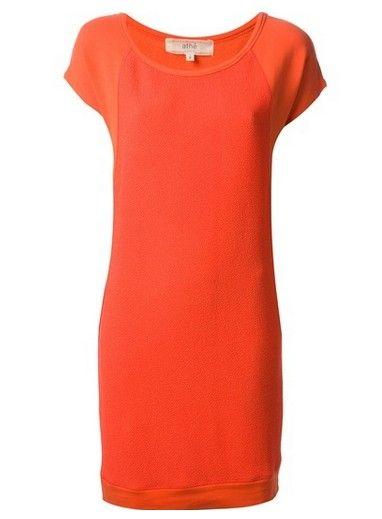 VANESSA BRUNO Athé mudança vestido casual em um tom caqui de laranja