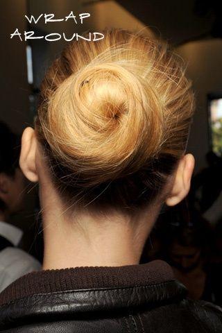 Envolver em torno de cabelo