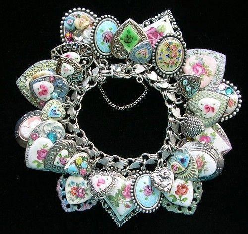 pulseiras esterlina antigas