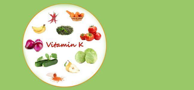 Deficiência de vitamina k - causas, sintomas e tratamento
