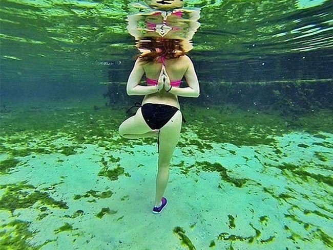 Benefícios da água Yoga