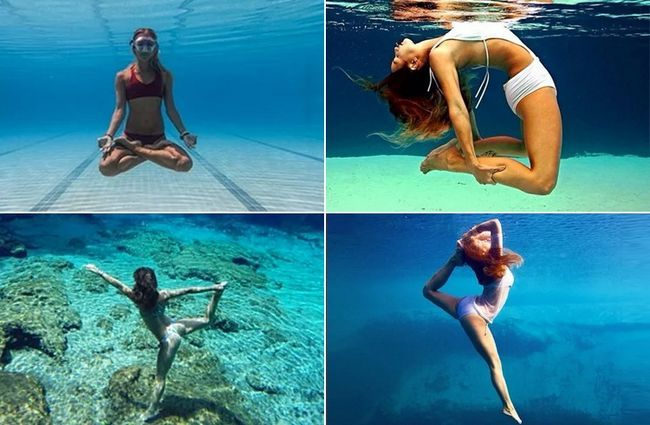 Exercícios de água Yoga