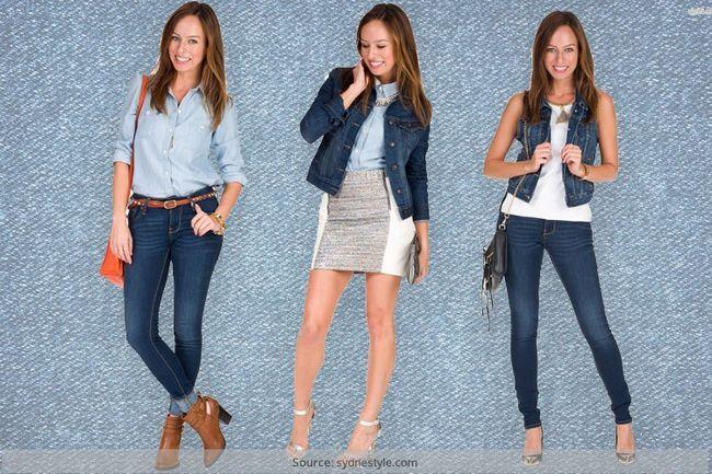 Usar jaquetas jeans com um toque!