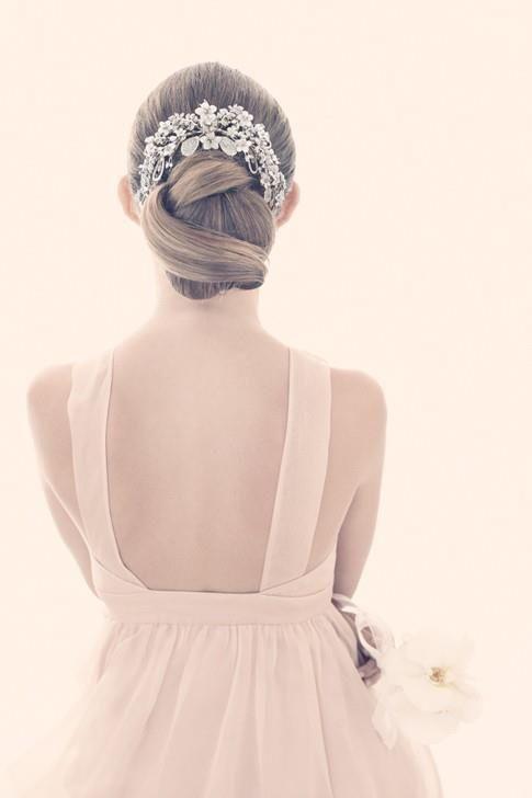 Romântico Updo casamento - cabelo do casamento da inspiração