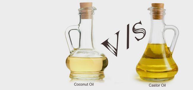 Quais são as diferenças entre o óleo de rícino e óleo de coco?