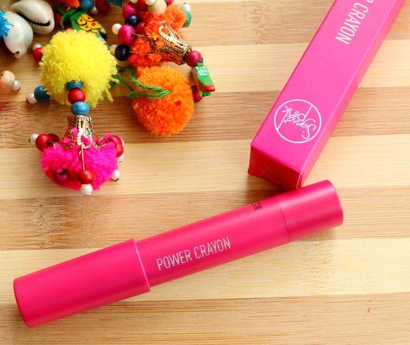 Sigma rosa lábio poder lápis labial revisão cor, amostras e lotd
