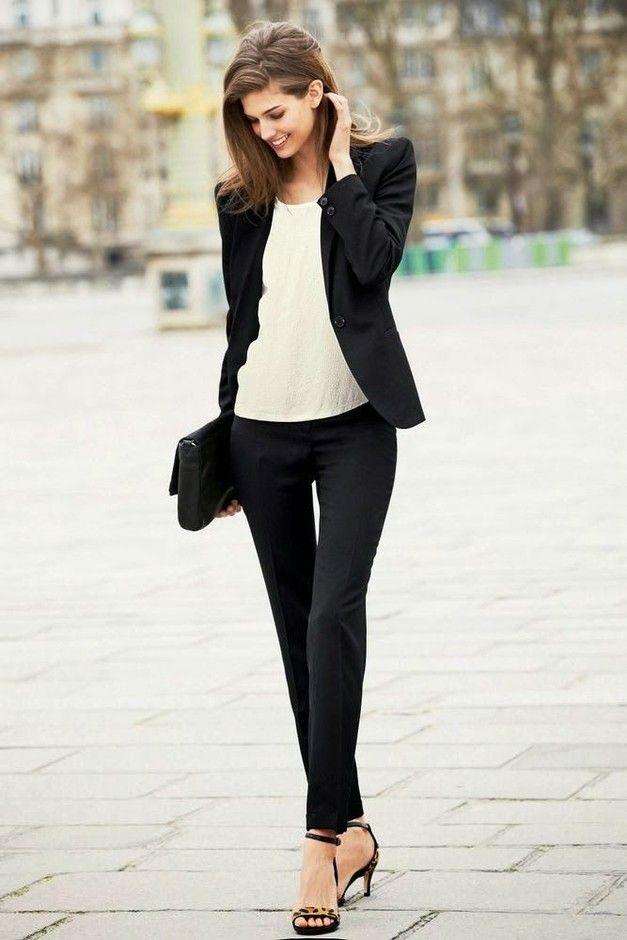 Black and White Outfit Idea para Days trabalho