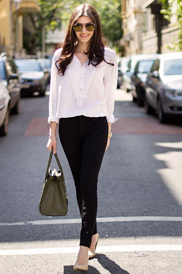 Classy Idea preto e branco roupa para o Trabalho