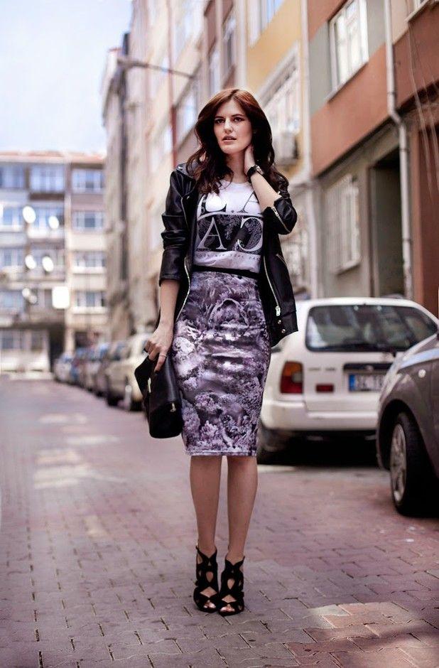 Elegante Idea Impresso Outfit para o Outono de 2014