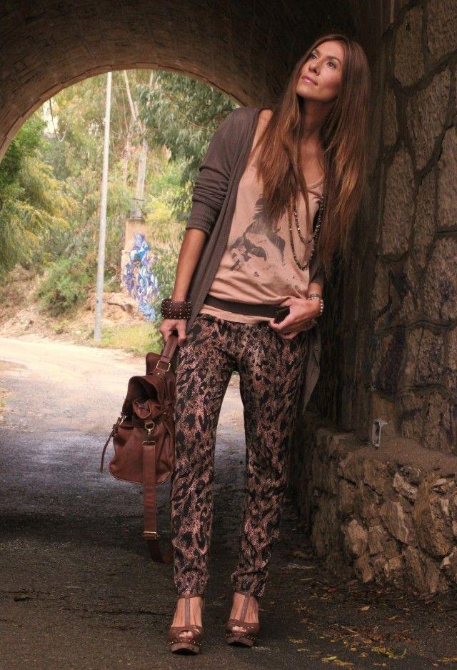 Leopard Impresso Pants Idea Outfit