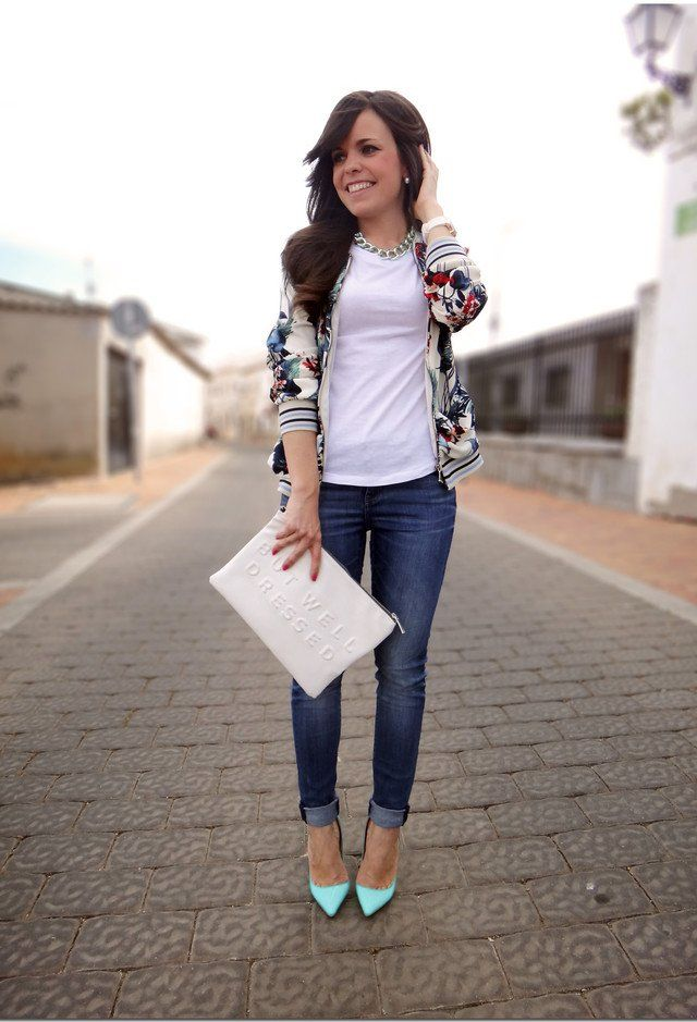 Casual Idea Outfit T branco com Jeans