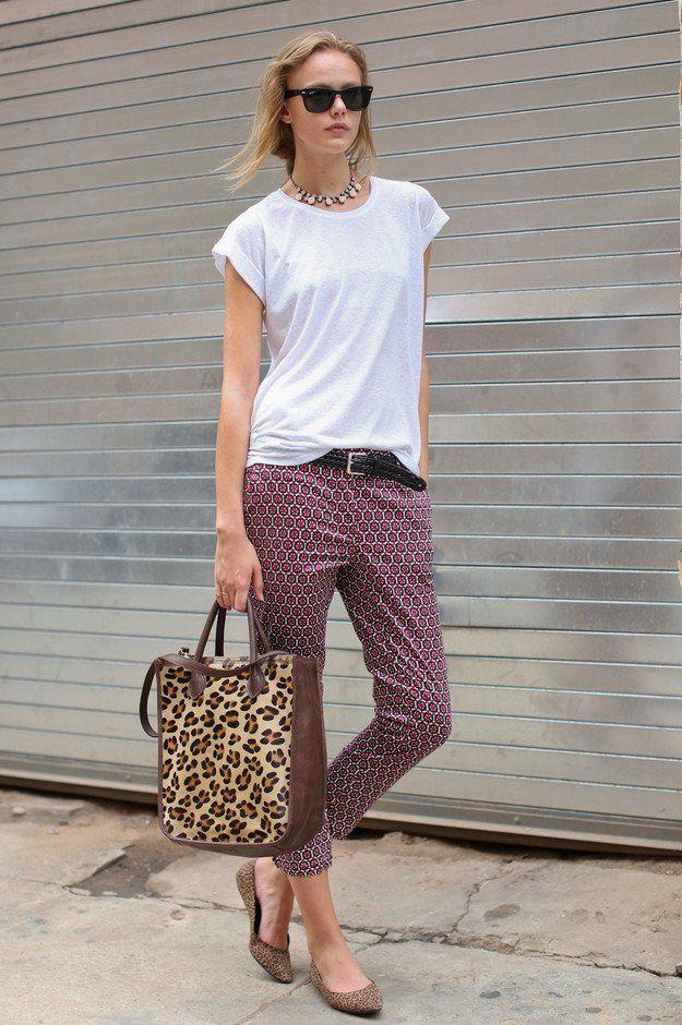 Casual Idea T branco Outfit