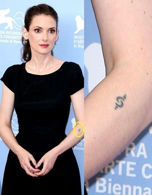 Tatuagens de winona ryder - tatuagem desenho artístico no antebraço