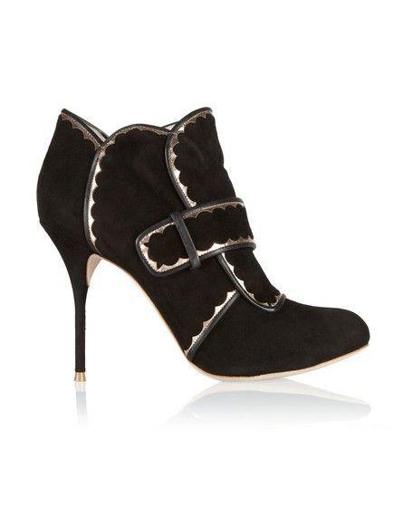 ankle boots de camurça Sophia Webster Metallic couro-aparados
