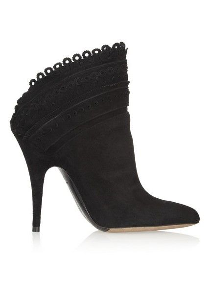 ankle boots de camurça scalloped Harmony
