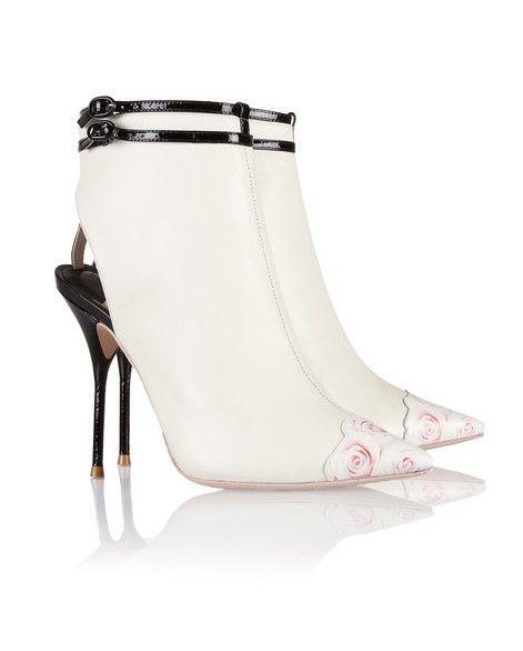 Sophia Webster recorte Ankle Boots de couro