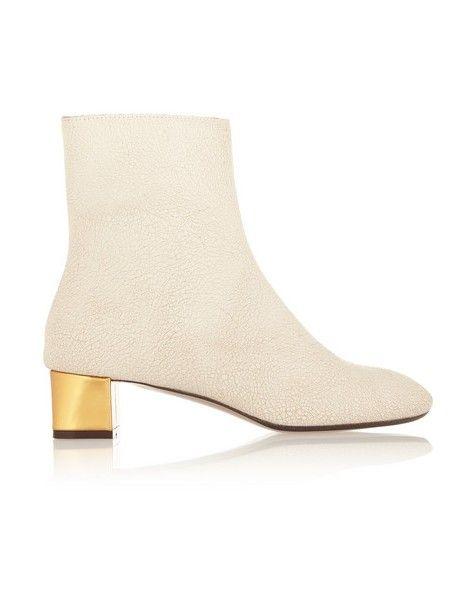 ankle boots de couro texturizado Marni