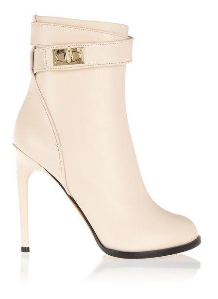 ankle boots Givenchy tubarão bloquear em couro pálido cora