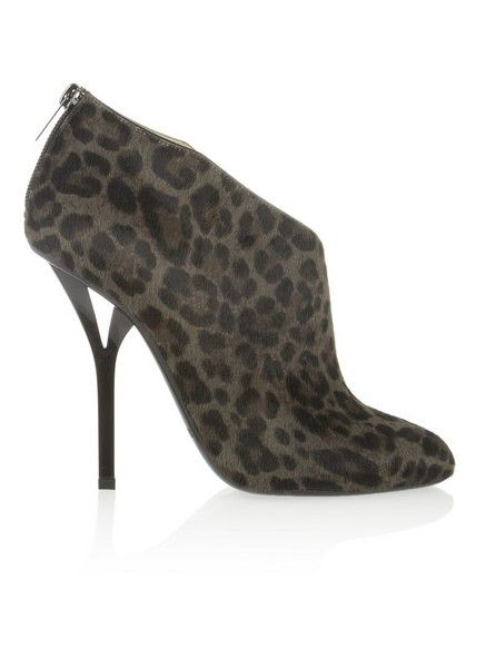 botas de cabelo bezerro tornozelo estampa de leopardo Jimmy Choo pista