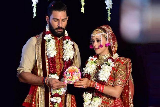 Yuvraj singh casados avelã keech novamente em goa e duplica o seu momento de alegria